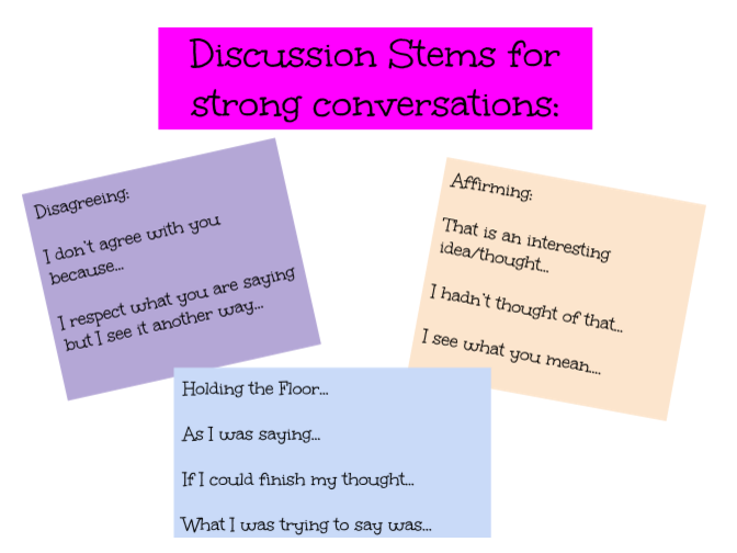 Discussion Stems
